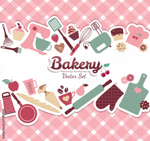 Fototapeta Bakery and sweet illustration