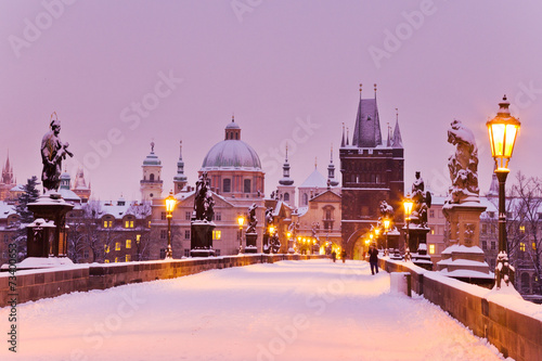 Charles bridge, Old Town bridge tower, Prague (UNESCO), Czech r - 73400653