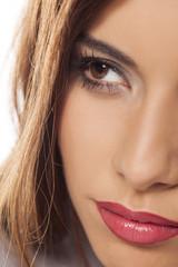 half face of beautiful girl