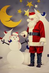 snowmans santa