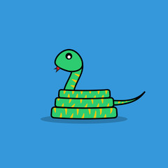 Cute snake cartoon.