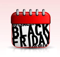 Black Friday Calendar icon