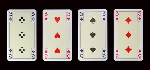 Spielkarten der Ladys - DREI