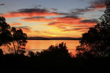 lever de soleil sur Mono lake