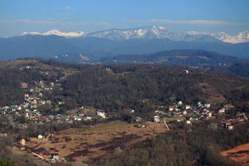 aerial view of Matsesta, the big Sochi