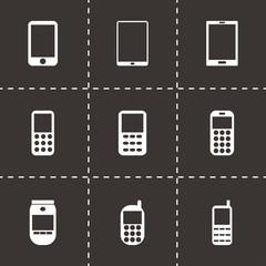Vector mobile phone icon set