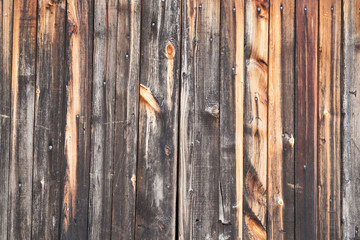 Background of burnt wooden boards