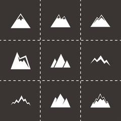Vector mountains icon set