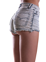 Torso of a beautiful girl in shorts