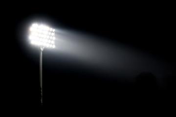 Spotlight of stadium