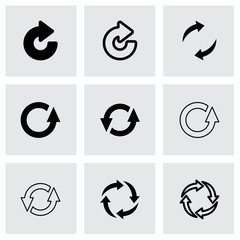 Vector black refresh icon set