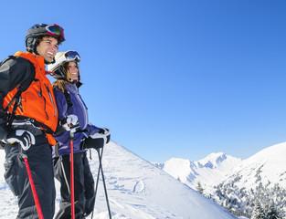 Freizeitvergnügen Skifahren