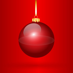 Nice one red christmas balls