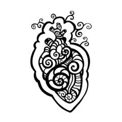 Decorative heart. Ethnic pattern.