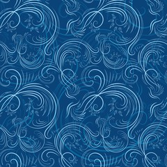 Blue christmas pattern with ice