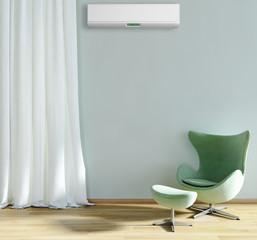 Stanza con aria condizionata