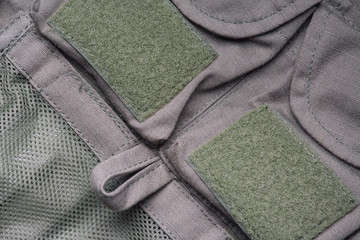 Closeup of military uniform
