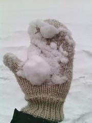 Снег на варежке