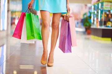 Legs of shopaholic