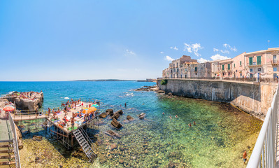 Ortigia and Mediterranean sea in Syracuse, Italy