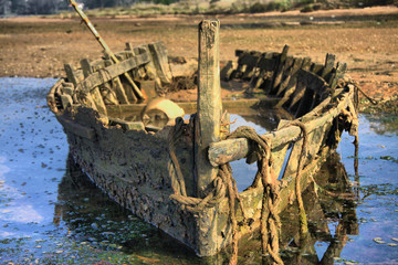 Skeleton of a boat