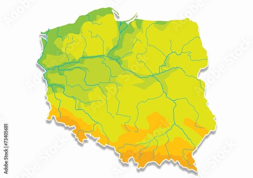Poland, Polish map