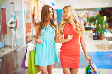 Shoppers talking
