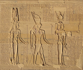 Gods of Egypt, Philae Temple, Egypt, UNESCO World Heritage Site
