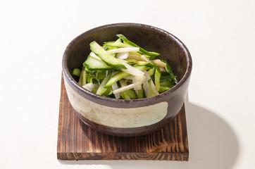 山うど・きゅりの酢の物・日本家庭料理