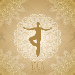 Yoga background.