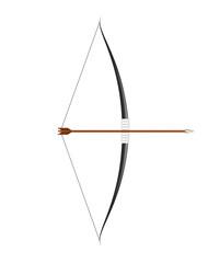Black bow and arrow