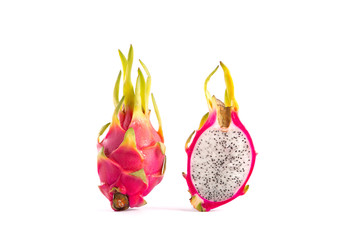 Whole dragon fruit and a half part