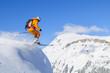 couragierter Skifahrer