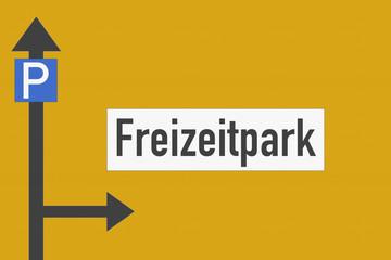 Wegweiser Freizeitpark