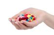 hand holds pill