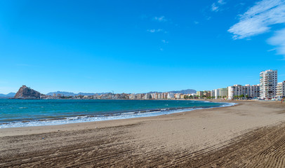 View of Aguilas Town Beach, Murcia Province, Spain