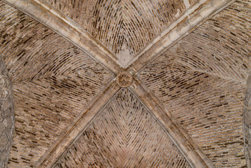 Gothic Vaulted Ceiling at Lorca Castle Murcia Privince Spain