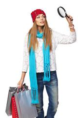 Winter shopping concept