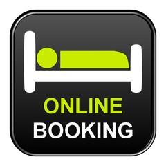 Schwarzer Button: Online Booking