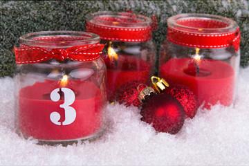 dritter advent im schnee