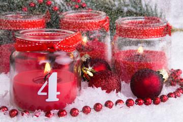 vierter advent im schnee