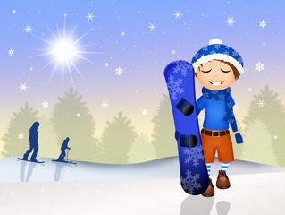 child skier