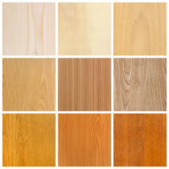 collage of nine pictures, collection of wood textures