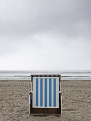Lonely beach chair