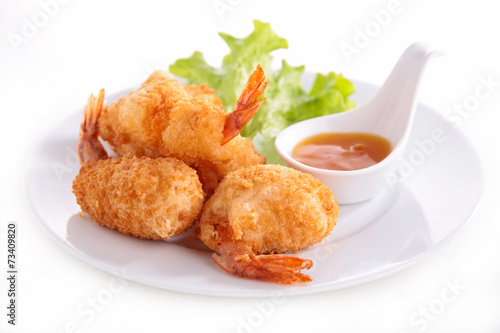 canvas print picture fried shrimp