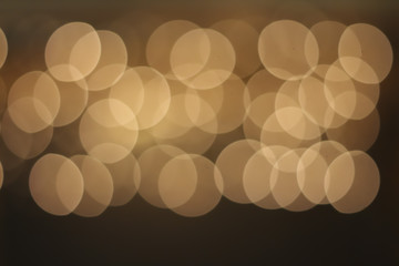 Blurred beige city lights