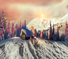 beauty of winter mountains