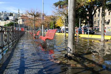 Lugano, Switzerland - 18 November 2014: