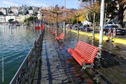 Leinwandbild Motiv Lugano, Switzerland - 18 November 2014: