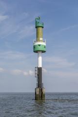 Green harbor entrance buoy